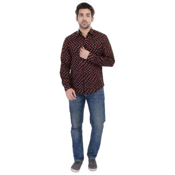 Gulaal Men's Classic Bandhej Shirt