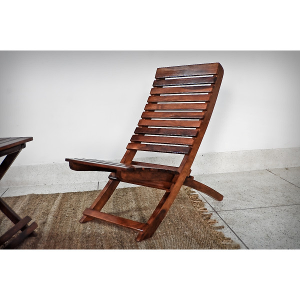 LifeEstyle Folding  Wooden Yellow Chair