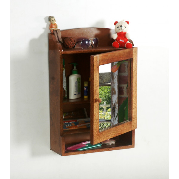 LifeEstyle Wooden Medicine Cabinet For Bathroom, With Mirror Door