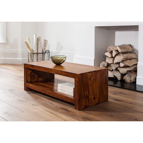 LifeEstyle Handcrafted Sheesham Wood Coffee Table