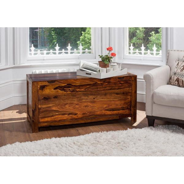 LifeEstyle Handcrafted Sheesham Wood Storage Box