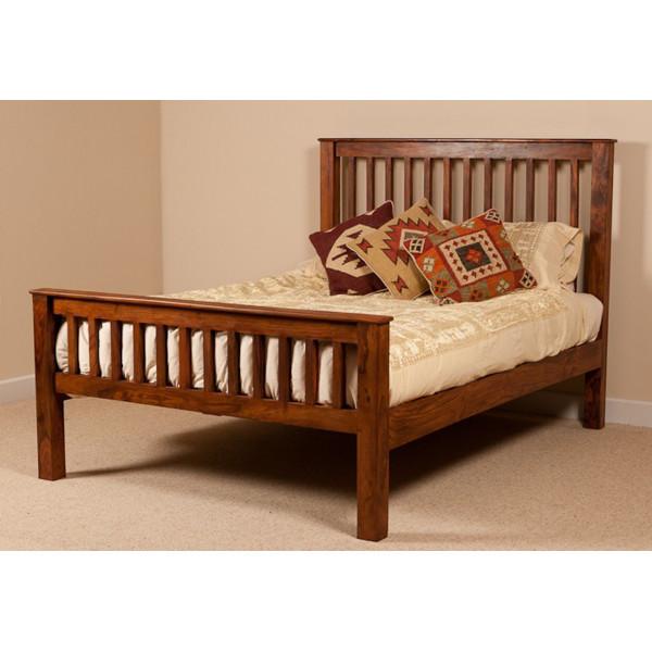 LifeEstyle Handcrafted Sheesham Wood King Size Bed