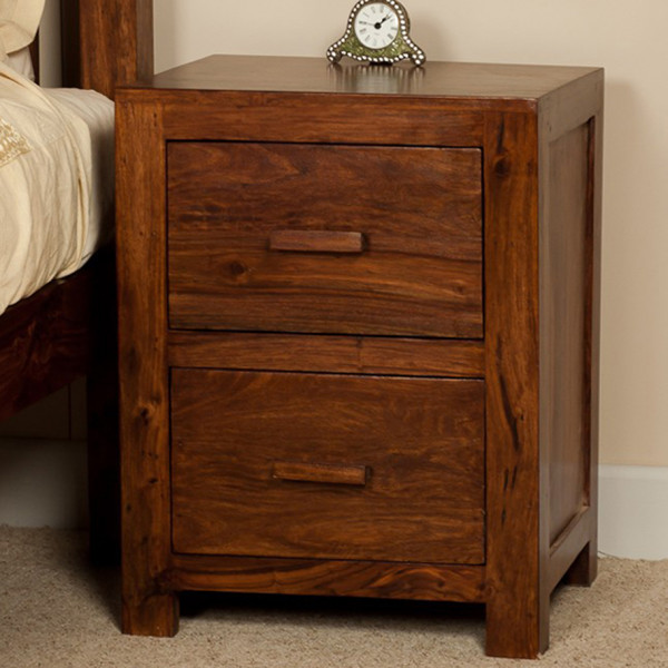 LifeEstyle Handcrafted Sheesham Wood Bed Side Cabinet