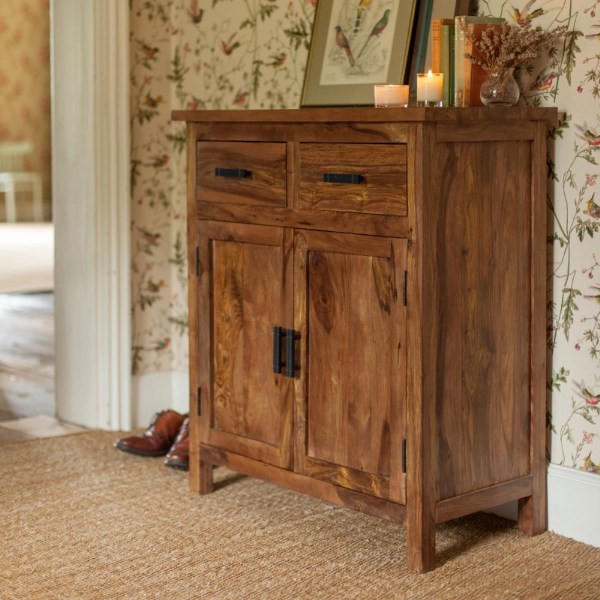 LifeEstyle Sheesham Wood Side Board With Storage Cabinet