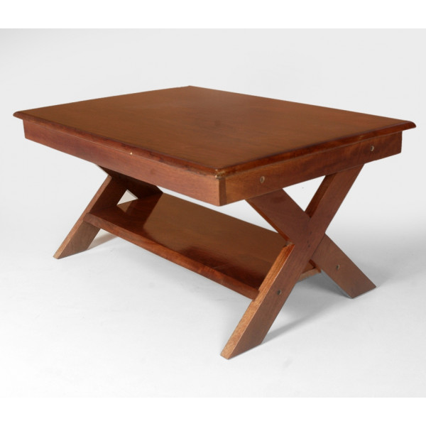 LifeEstyle Wooden Folding Center Table With Under Shelf