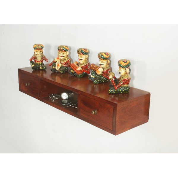 LifeEstyle Wooden Tv Console Wall Shelf