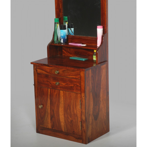 LifeEstyle Wooden Folding Dressing Mirror With Storage
