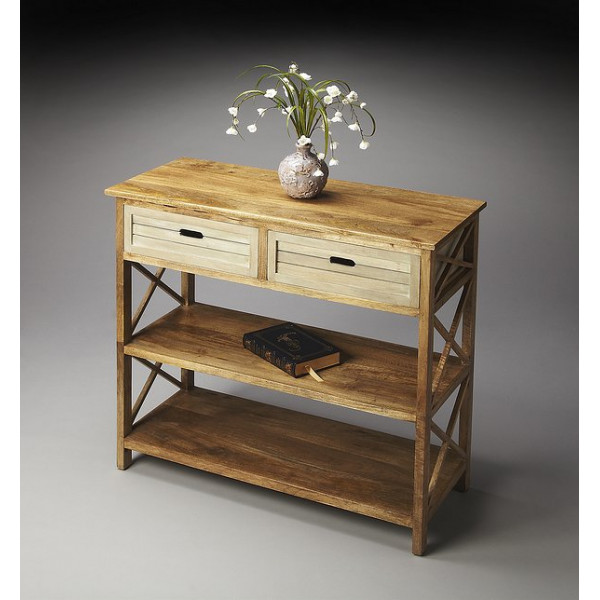 LifeEstyle Console Table With 2 Drawers And 2 Shelves
