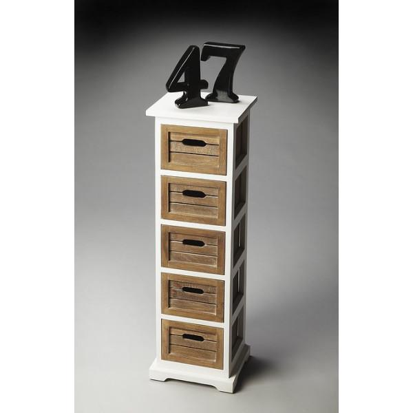 LifeEstyle Mango Wood Storage Pedastal With 5 Drawers