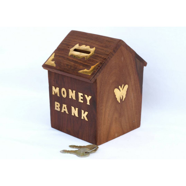 Anam Craft Wooden money bank