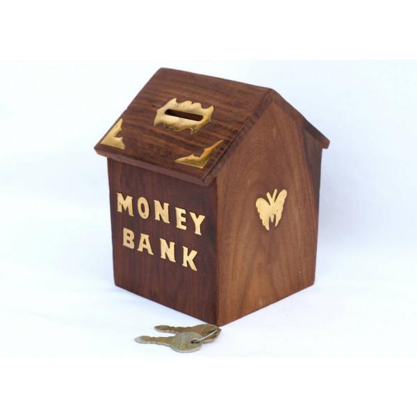 Anam Craft Wooden money bank