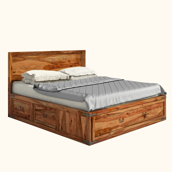 Marisol Classic Shaker Sheesham Wood Platform Bed