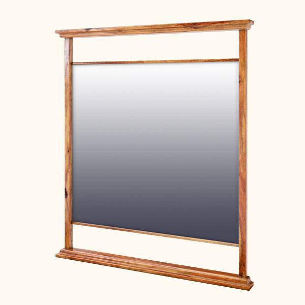 Edmond Sheesham Wood Standing Vanity Mirror Frame 32 x 36 inches