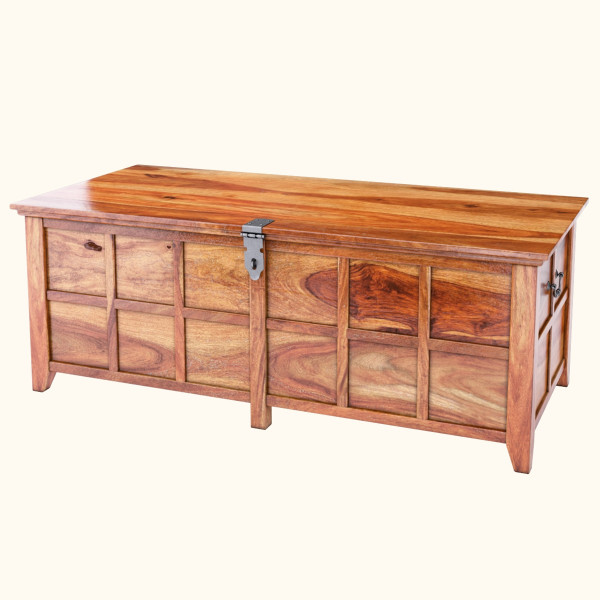 Edmond Sheesham Wood Standing Bedroom Trunk Chest 50inches