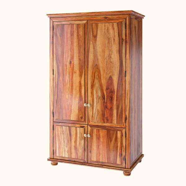 Roberto 4 Door Sheesham Wood Wardrobe 6feet