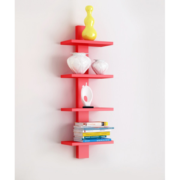 FabFull Bari 4 Tier wall shelf Red