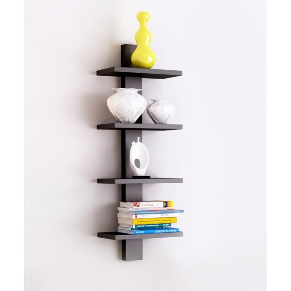 FabFull Bari 4 Tier wall shelf Black