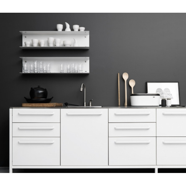 FabFull Taranto set of 2 kitchen shelves White