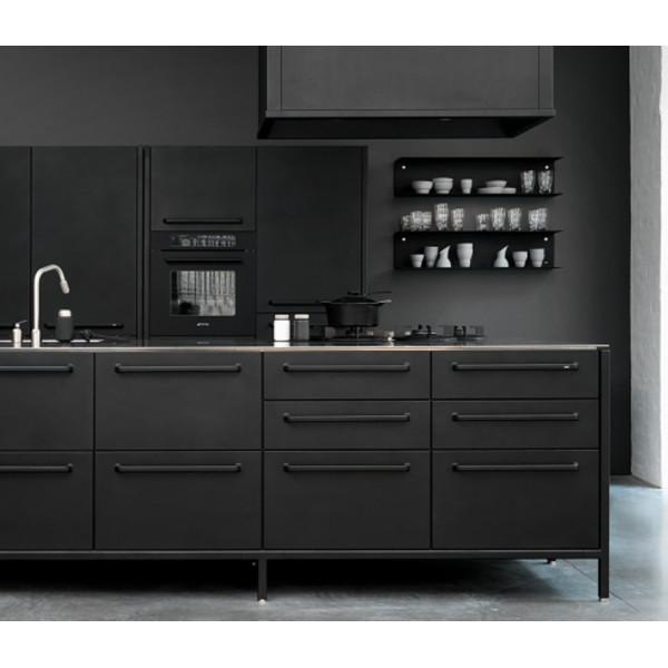 FabFull Taranto set of 2 kitchen shelves Black