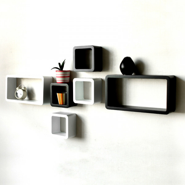 FabFull Boxo set of 6 wall shelves