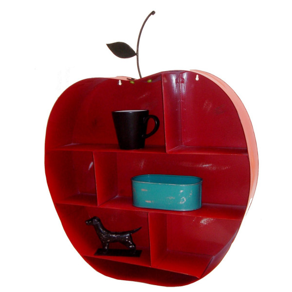 FabFull Apple shape Wall Shelf Red