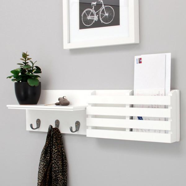 FabFull Arezzo Mail Holder Shelf with 3 Hooks