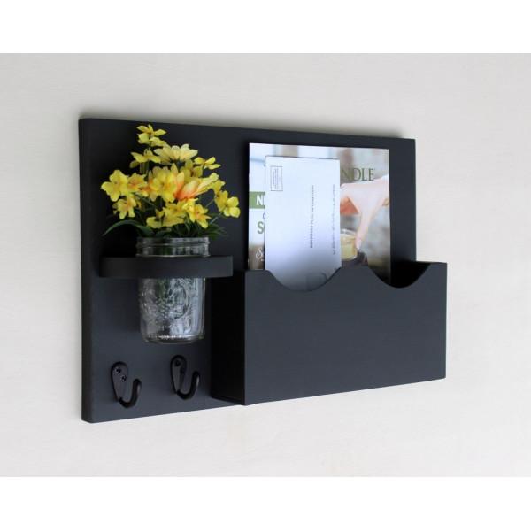 FabFull Cesena Mail Organizer Key Hooks Shelf