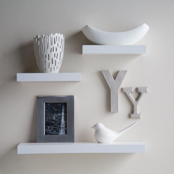 FabFull Siena Floating Shelves set of 3 White