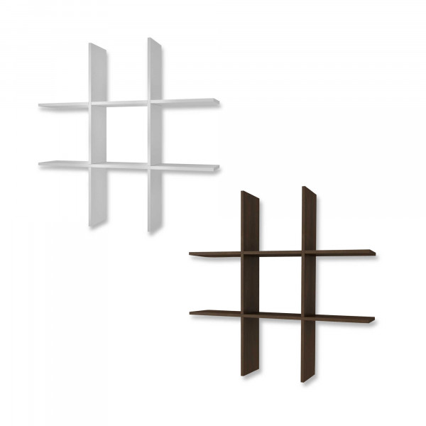 FabFull Burbank Tic Tac Toe Shelf set of 2