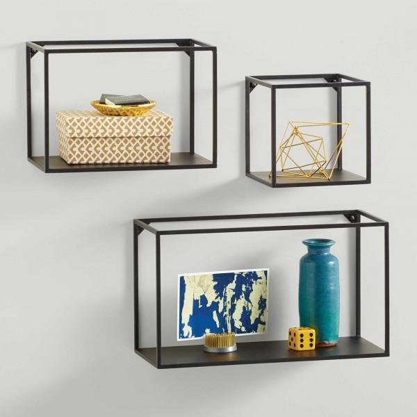 FabFull Carlsbad Metal Framed Cubes Set of 3