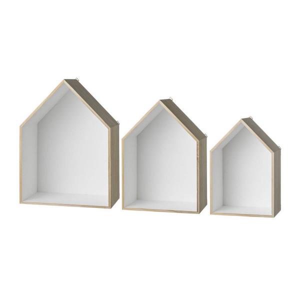 FabFull Hut Wall Shelf set of 3