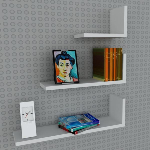 FabFull Palma Wall Shelves set of 3
