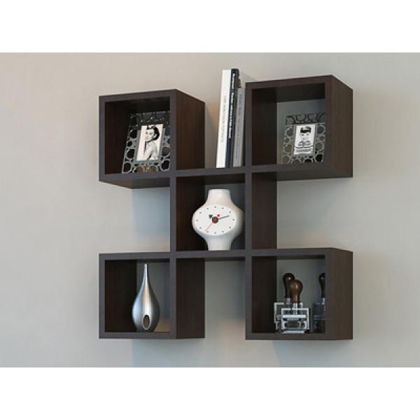 FabFull Five Square Wall Shelf