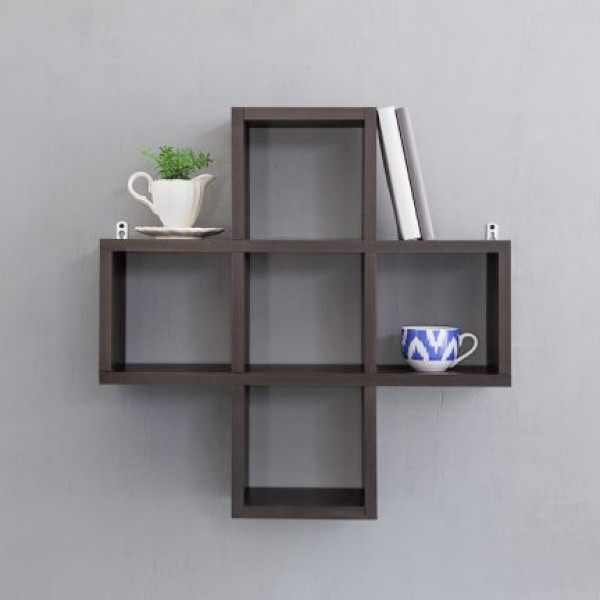 SteelCraft Plus shaped wall shelf Wenge