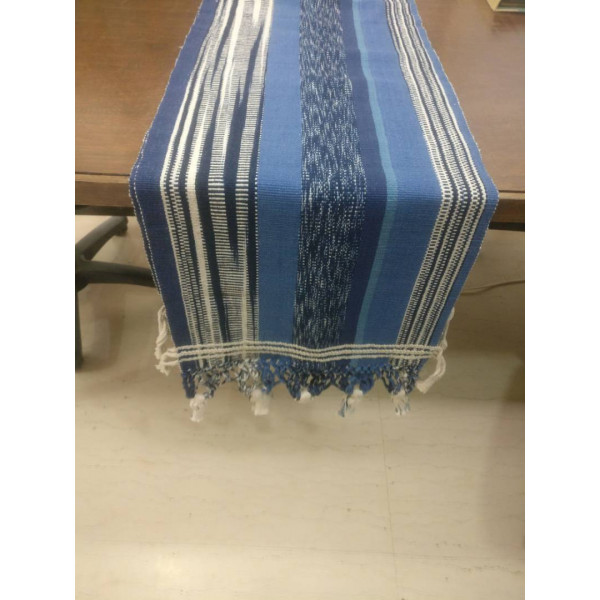 Handmade Table Runner 10 feet - Blue