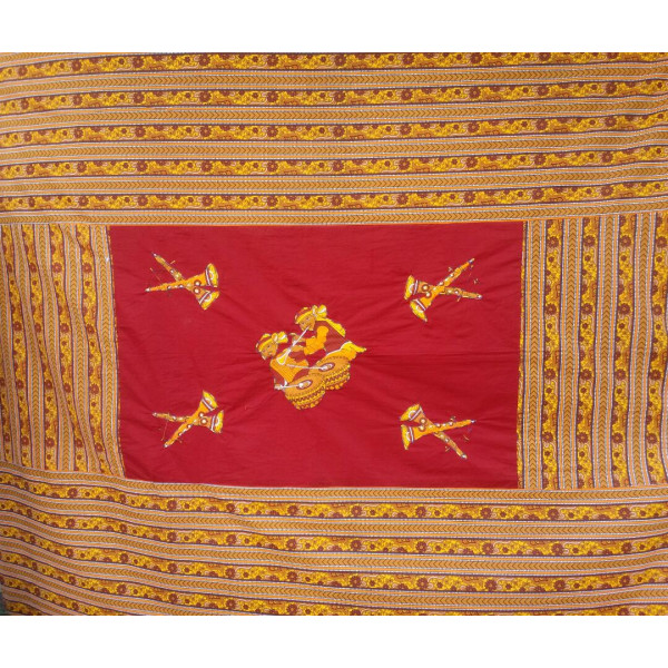 Cotton Bedsheet with Rajasthani Patchwork