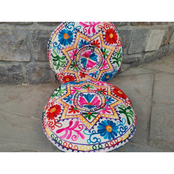 Pillows in Kashmiri embroidery ( Set of 2)