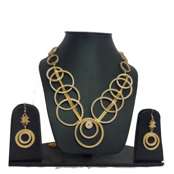 MESMERIZING BAMBOO FUSION NECKLACE AND EARING SET