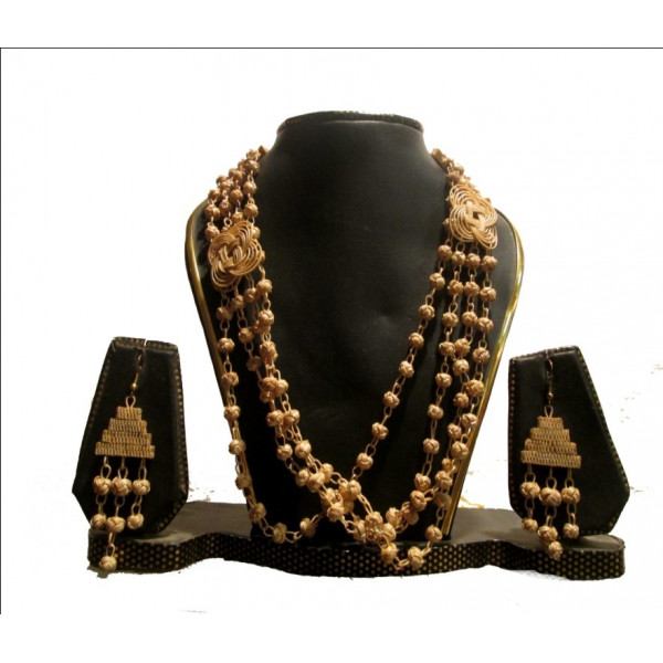 MESMERIZING BAMBOO FUSION NECKLACE AND EARRING SET
