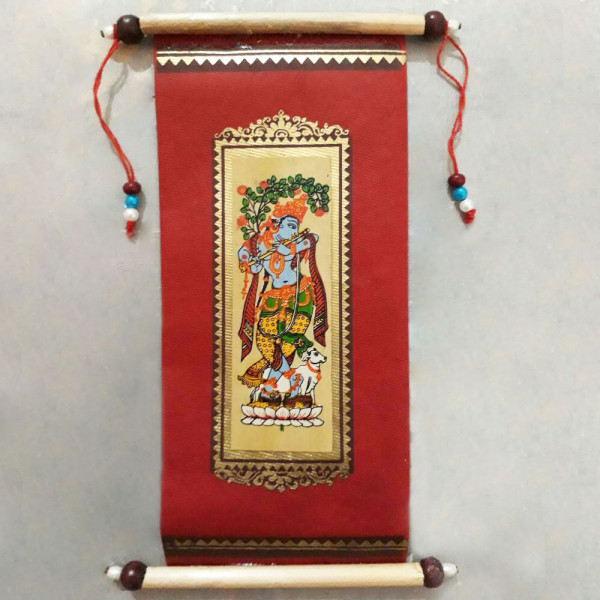 Wedding Card with Lord Krishna Print