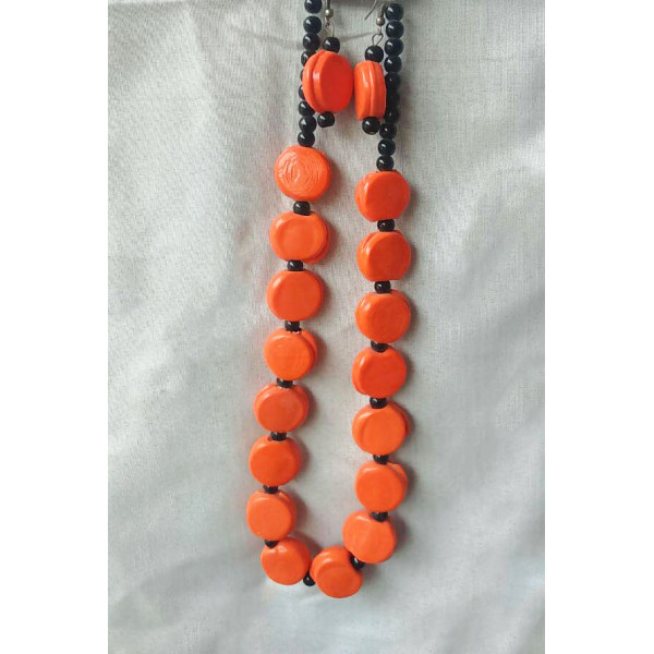 Bead necklace earing set2