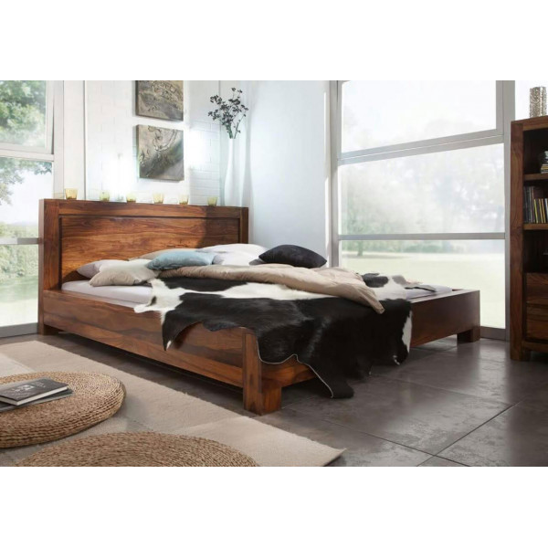 Miltone Solid Wood King Size Bed