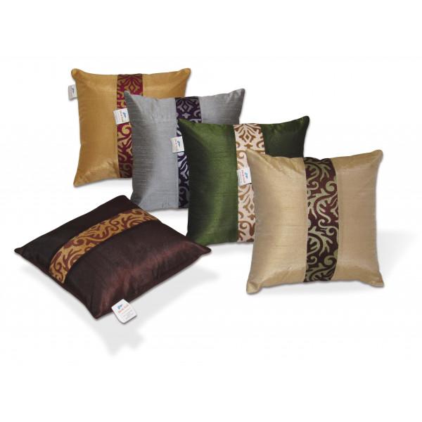 Zikrak Exim Set of 5 Multi Polyester Cushion Covers