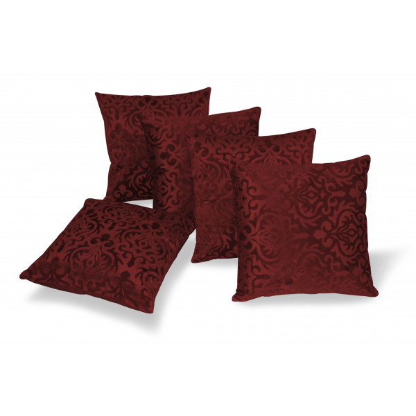 Zikrak Exim Set of 5 Brown Flocking Cushion Covers