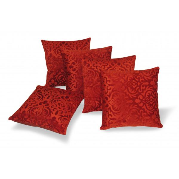 Zikrak Exim Set of 5 Rust Flocking Cushion Covers