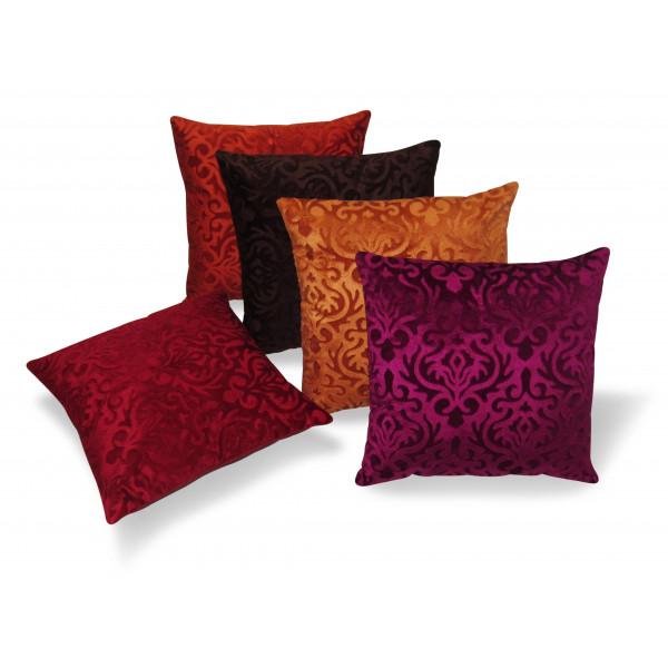 Zikrak Exim Set of 5 Multicolor Flocking Cushion Covers