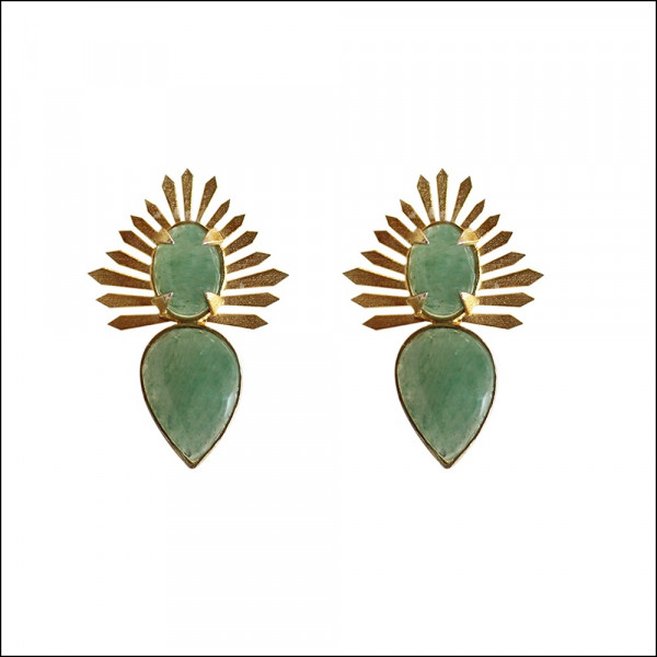 Grapes Aventurine Spike Earring