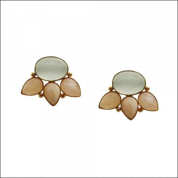 Grapes Yellow Aventurine Studs