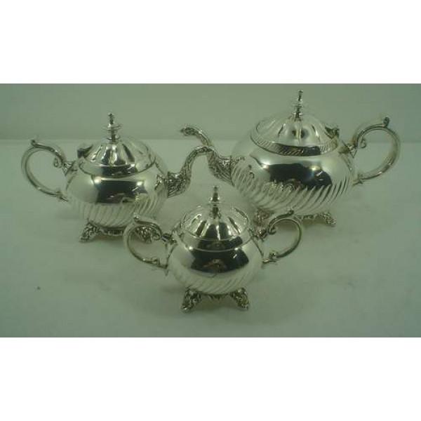 Al- Haraman Silver Plated Teapot set
