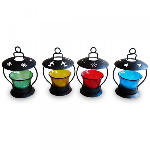 Pindia Decorative T-Lite Candle Holder (Set of 4)